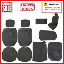 Alcantara Leather Fabric Sponge Cotton Universal Car Seat Cushion Covers (Honda) Black