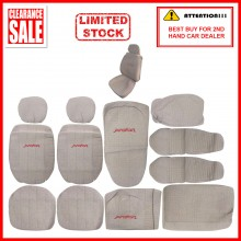 Fabric Sponge Cotton Universal Car Seat Cushion Covers (Proton) Biege