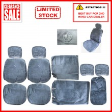 Alcantara Leather Fabric Sponge Cotton Universal Car Seat Cushion Covers (BMW) Blue