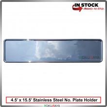 Stainless Steel Chrome Number Plate Holder Licence Plate Frame (11.5cm x 40cm)