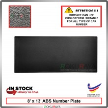 ABS Car Number Plate Holder Licence Plate Frame Black (20cm x 34cm)
