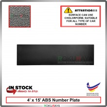 ABS Car Number Plate Holder Licence Plate Frame Black (11cm x 38cm)