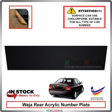 Proton Waja Rear Acrylic Car Number Plate Holder License Frame Black
