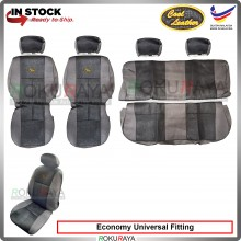 Economy Universal Proton Perodua Wira Saga Iswara Cool Leather Coolmax Custom Fitting Cushion Cover Car Seat