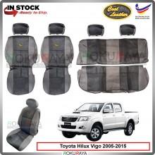 Toyota Hilux Vigo 2004-2015 Cool Leather Coolmax Custom Fitting Cushion Cover Car Seat