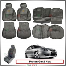 Proton Gen2 Facelift New Cool Leather Coolmax Custom Fitting Cushion Cover Car Seat