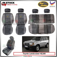 Toyota Landcruiser HZJ80 J80 Series Cool Leather Coolmax Custom Fitting Cushion Cover Car Seat