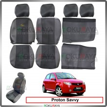 Proton Savvy Cool Leather Coolmax Custom Fitting Cushion Cover Car Seat
