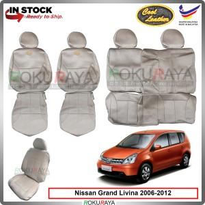 Nissan Grand Livina 2006-2012 Cool Leather Coolmax Custom Fitting Cushion Cover Car Seat (Biege)