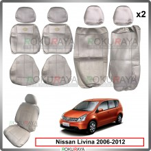 Nissan Grand Livina 2006-2012 Cool Leather Coolmax Custom Fitting Cushion Cover Car Seat (Biege)