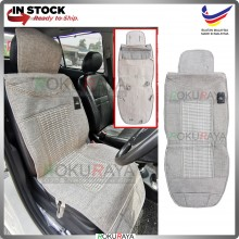 BEIGE Universal Automobile Car Seat Cover Mat Thick Cool Fabric Embroidery (TYPE 1)