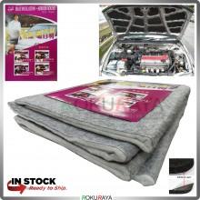 [80cm x 125cm] CARPET Universal Carfit Bonnet Trunk Boot Deadening Sound Proof Heat Insulation Mat