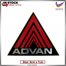 ADVAN (6cm x 7cm) Automobile Car Rear Back Emblem Logo Chrome Badge