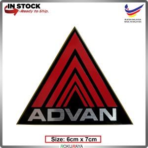 ADVAN (6cm x 7cm) Automobile Car Rear Back Emblem Logo Chrome Badge