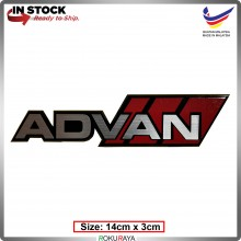 ADVAN (14cm x 3cm) Automobile Car Rear Back Emblem Logo Chrome Badge