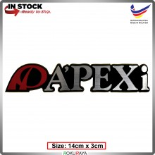 APEXI (14cm x 3cm) Automobile Car Rear Back Emblem Logo Chrome Badge