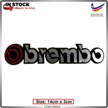 OBREMBO (14cm x 3cm) Automobile Car Rear Back Emblem Logo Chrome Badge