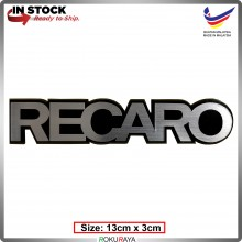 RECARO (13cm x 3cm) Automobile Car Rear Back Emblem Logo Chrome Badge