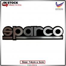 SPARCO (14cm x 3cm) Automobile Car Rear Back Emblem Logo Chrome Badge