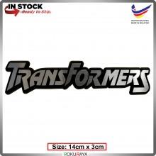 TRANSFORMERS (14cm x 3cm) Automobile Car Rear Back Emblem Logo Chrome Badge