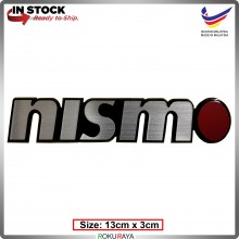 NISMO (13cm x 3cm) Automobile Car Rear Back Emblem Logo Chrome Badge