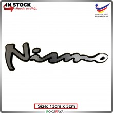 NISMO2 (13cm x 3cm) Automobile Car Rear Back Emblem Logo Chrome Badge