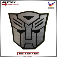 AUTOBOT (4.5cm x 5cm) Transformers Automobile Car Rear Back Emblem Logo Chrome Badge