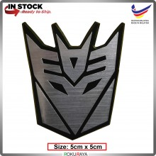 DECEPTICON (5cm x 5cm) Transformers Automobile Car Rear Back Emblem Logo Chrome Badge