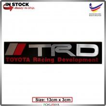 TRD (13cm x 3cm) Automobile Car Rear Back Emblem Logo Chrome Badge