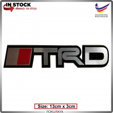 TRD3 (13cm x 2cm) Automobile Car Rear Back Emblem Logo Chrome Badge