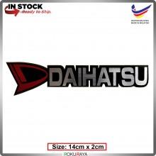 DAIHATSU (14cm x 2cm) Automobile Car Rear Back Emblem Logo Chrome Badge