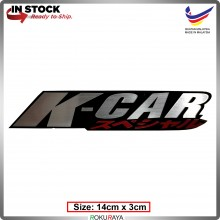 KCAR (14cm x 3cm) Automobile Car Rear Back Emblem Logo Chrome Badge