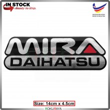 MIRA (14cm x 4.5cm) Automobile Car Rear Back Emblem Logo Chrome Badge