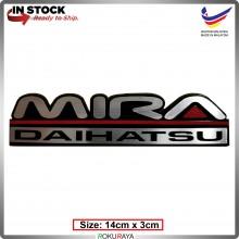 MIRA (14cm x 3cm) Automobile Car Rear Back Emblem Logo Chrome Badge