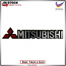 MITSUBISHI (14cm x 2cm) Automobile Car Rear Back Emblem Logo Chrome Badge