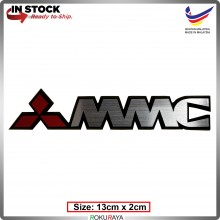 MMC (13cm x 2cm) Automobile Car Rear Back Emblem Logo Chrome Badge