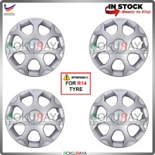 4in1 Universal R14'' Inch Car Wheel Cover Tyre Center Hub Cap Steel Rim (IS200 Design)