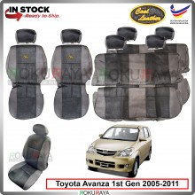 Toyota Avanza (1st Gen) 2005-2011 Cool Leather Coolmax Custom Fitting Cushion Cover Car Seat