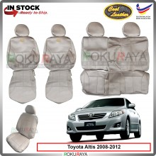 Toyota Altis 2007-2012 1.8 Cool Leather Coolmax Custom Fitting Cushion Cover Car Seat (Biege)