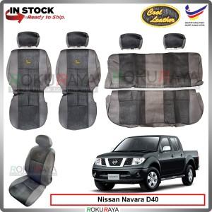 Nissan Navara D40 2009-2014 Cool Leather Coolmax Custom Fitting Cushion Cover Car Seat