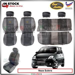 Naza Sutera Cool Leather Coolmax Custom Fitting Cushion Cover Car Seat