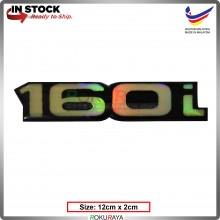 160i (12cm x 2cm) Rainbow Epoxy Automobile Car Rear Back Emblem Logo Chrome Badge