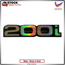 200i (12cm x 2cm) Rainbow Epoxy Automobile Car Rear Back Emblem Logo Chrome Badge