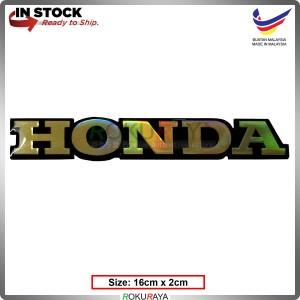 HONDA (16cm x 2cm) Rainbow Epoxy Automobile Car Rear Back Emblem Logo Chrome Badge