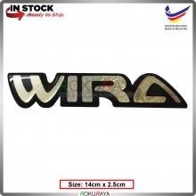 WIRA (14cm x 2.5cm) Rainbow Epoxy Automobile Car Rear Back Emblem Logo Chrome Badge