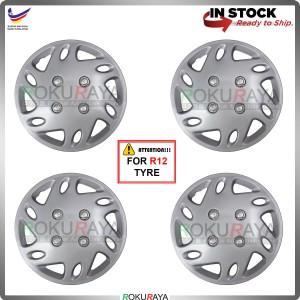 4in1 Universal R12'' Inch Car Wheel Cover Tyre Center Hub Cap Steel Rim (KC3 Sports)