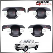 Toyota Hilux Vigo Champ 2005-2015 Door Handle Cover Garnish Trim ABS Plastic (MATT BLACK BOWL)