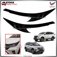 Perodua Toyota Aruz Rush Custom Fit ABS Plastic Car Head Lamp  Eye Lid Brow Cover