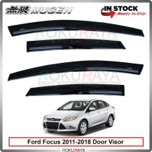 Ford Focus Sedan Hatchback (3rd Gen) 2011-2018 Mugen Curve Door Visor Air Press Wind Deflector (8cm Width)