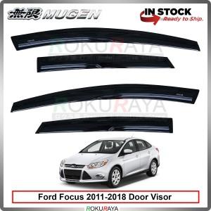 Ford Focus Sedan Hatchback (3rd Gen) 2011-2018 Mugen Curve Door Visor Air Press Wind Deflector (8cm Width)
